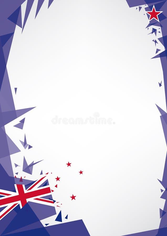 Bakgrundsorigami av Nya Zeeland vektor illustrationer