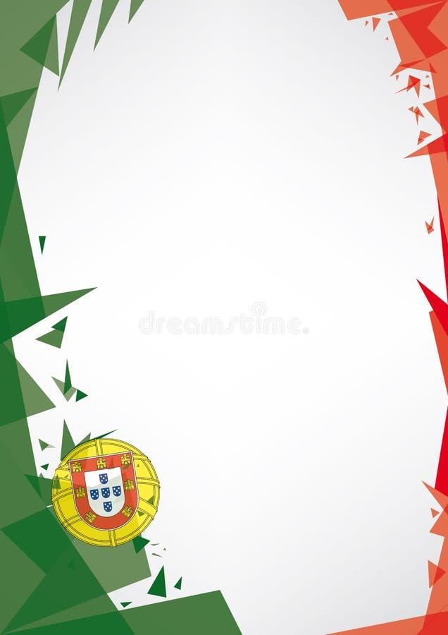Bakgrundsorigami av Portugal royaltyfri illustrationer