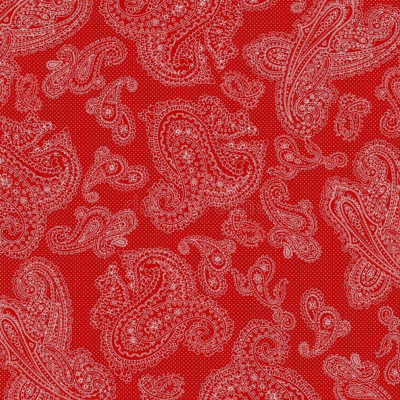 bakgrundspaisley valentin stock illustrationer
