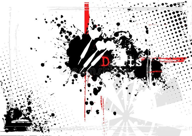 bakgrundspilar vektor illustrationer