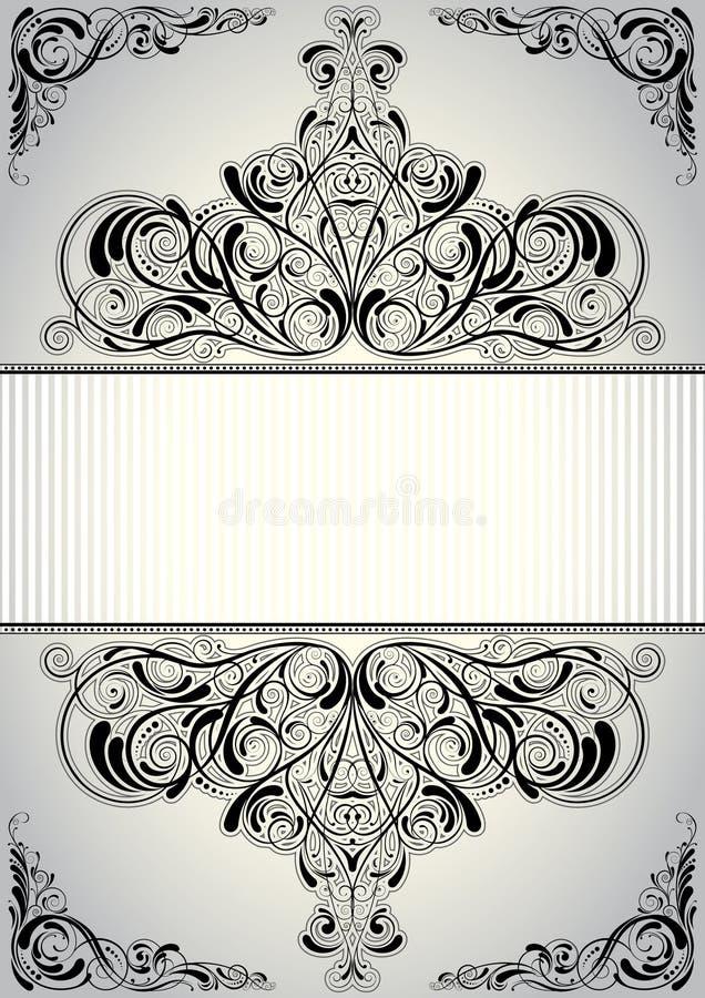 Bakgrundsramdesign royaltyfri illustrationer