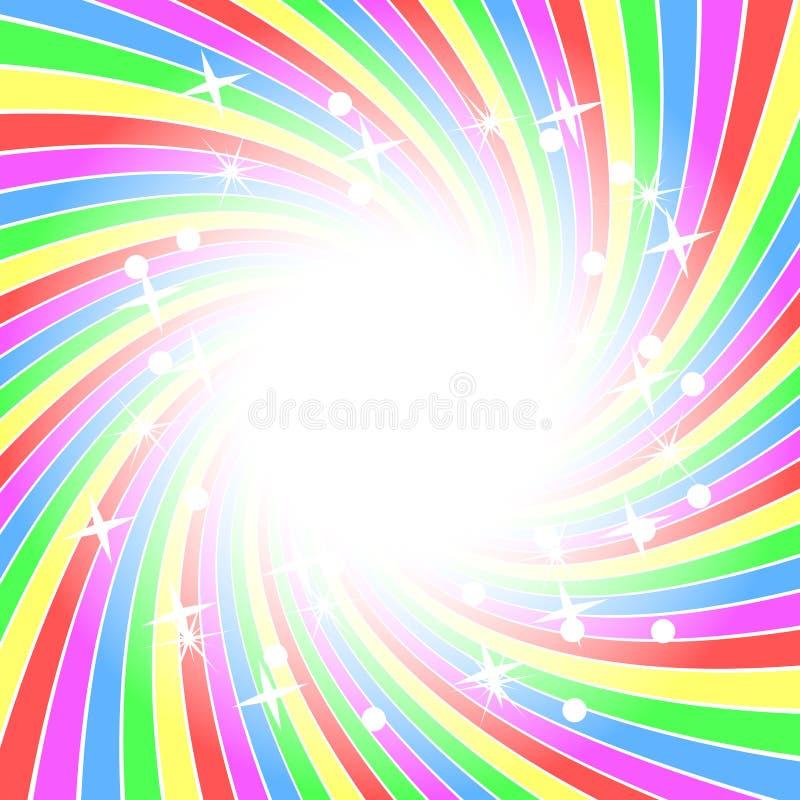 bakgrundsregnbågestjärnor royaltyfri illustrationer