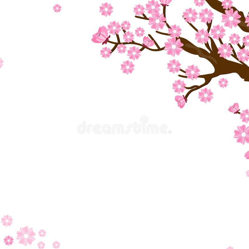 bakgrundssakura tree vektor illustrationer