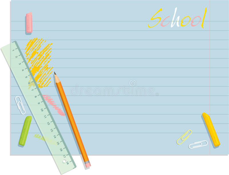 bakgrundsschemaskola stock illustrationer