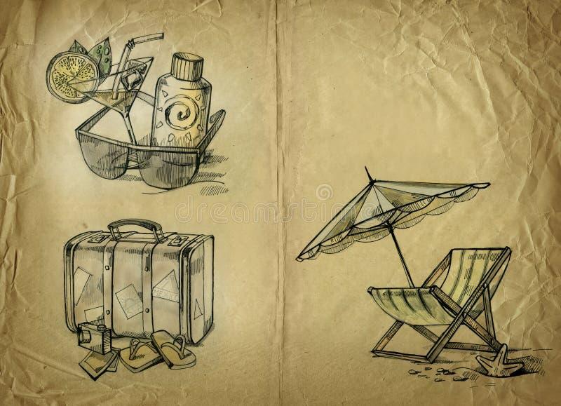 bakgrundssemester vektor illustrationer