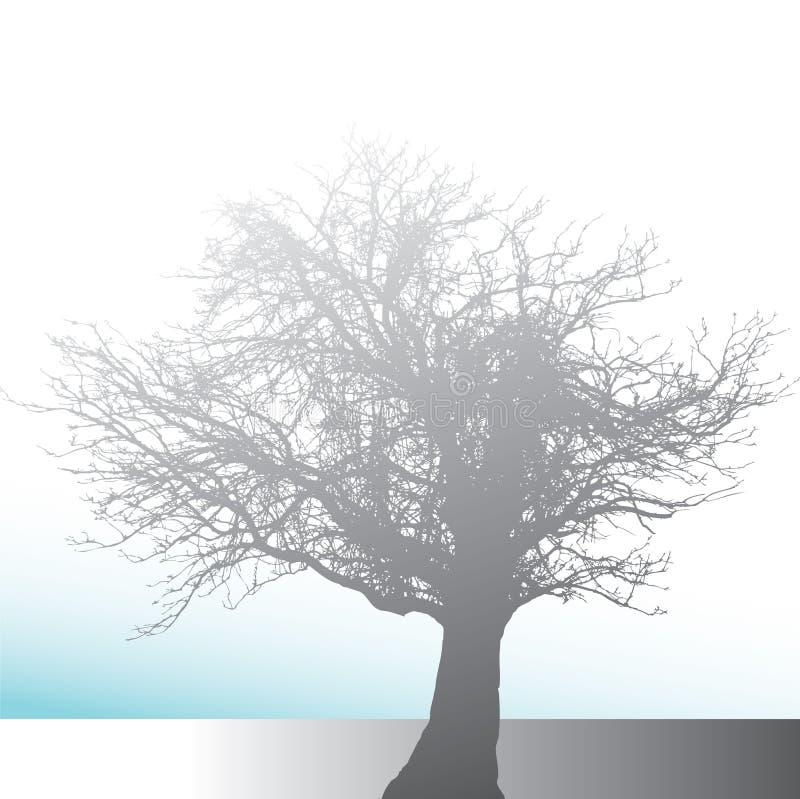 bakgrundssilhouettetree stock illustrationer