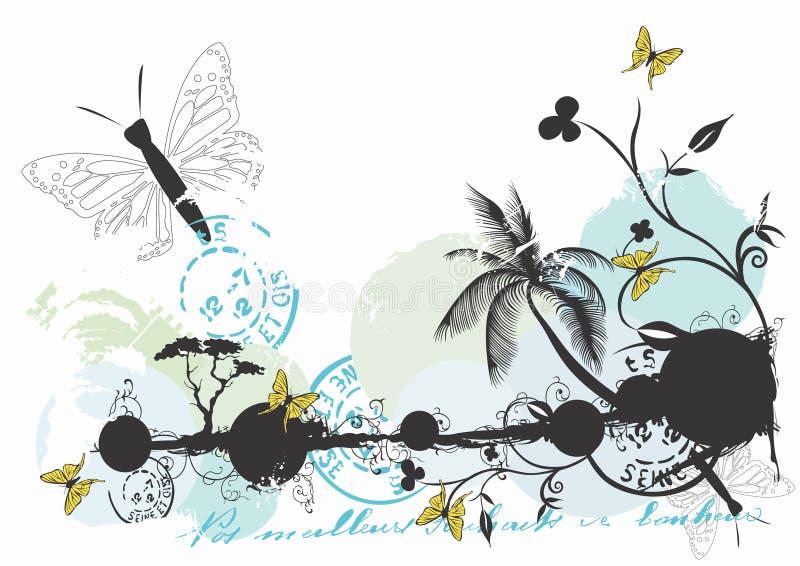 bakgrundssommar stock illustrationer