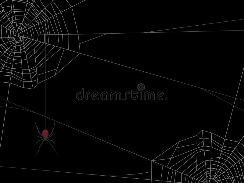 bakgrundsspindelrengöringsduk vektor illustrationer