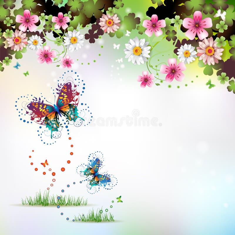 bakgrundsspringtime stock illustrationer