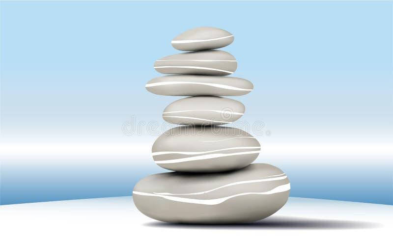 bakgrundsstabilitet stenar zen stock illustrationer