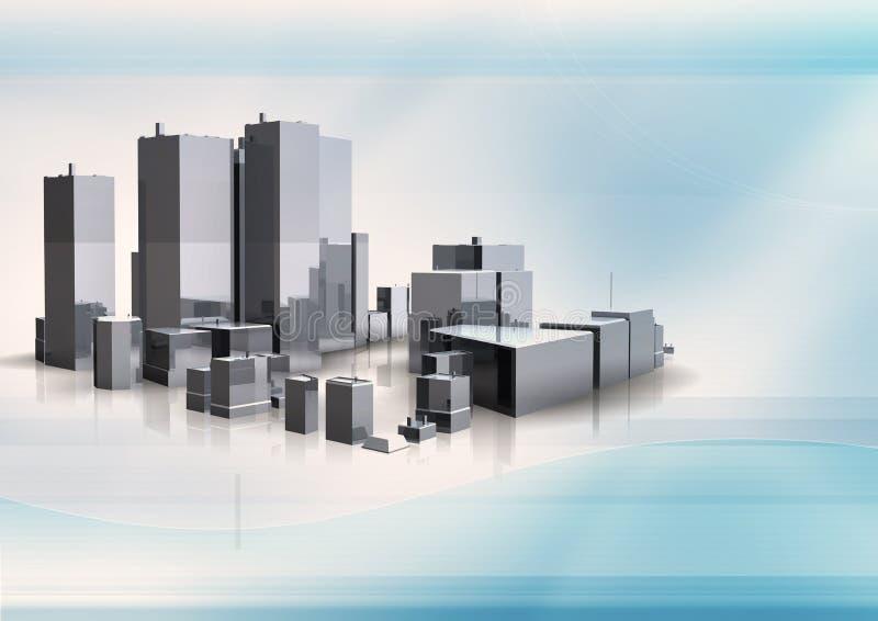 bakgrundsstadshorisont vektor illustrationer