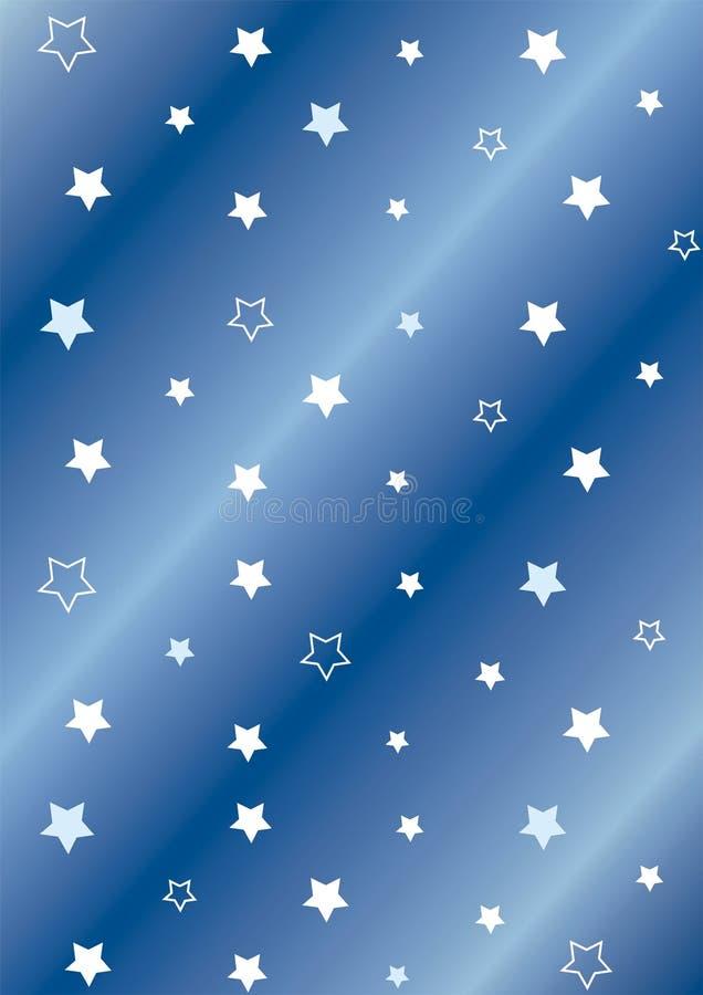 bakgrundsstjärnor royaltyfri illustrationer