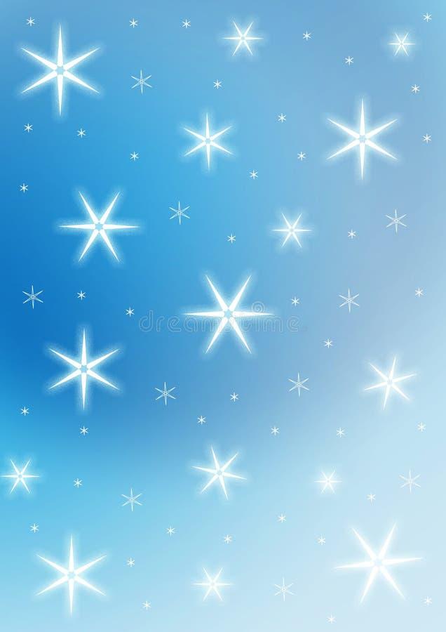 bakgrundsstjärnor stock illustrationer