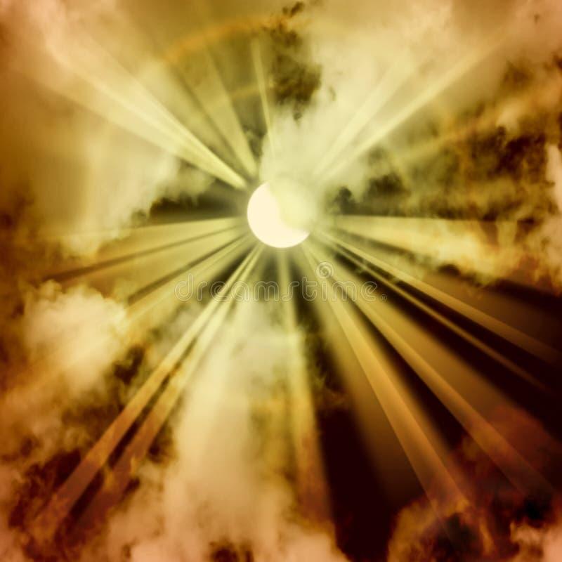bakgrundsstrålsun arkivbild