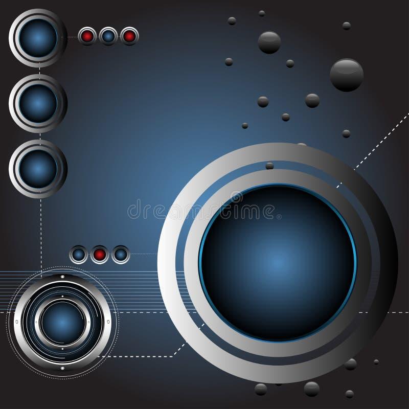 bakgrundsteknologi royaltyfri illustrationer