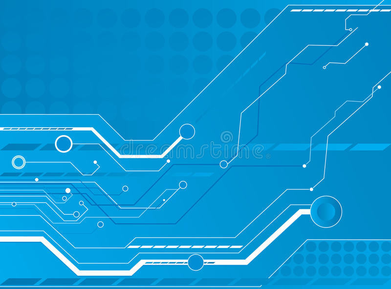 bakgrundsteknologi stock illustrationer