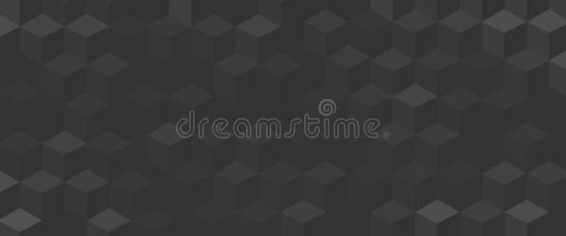 Bakgrundstextur med gråa geometriska kuber stock illustrationer