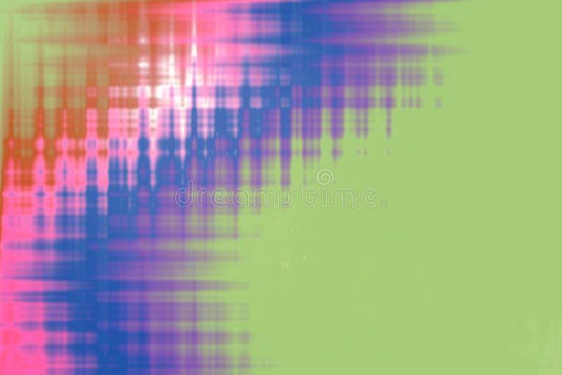 Bakgrundstextur som är grön med rosa och lila abstrakt modell M stock illustrationer