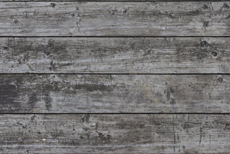 Bakgrundstexturträplankor Gråa bräden för gammal grunge arkivfoton