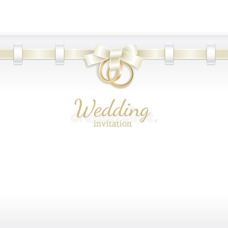 bakgrundstitelradbröllop stock illustrationer