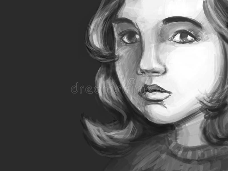 Bakgrundsung flicka vektor illustrationer