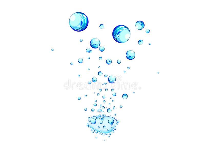 bakgrundsvatten stock illustrationer