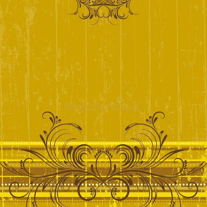 bakgrundsvektoryellow royaltyfri illustrationer