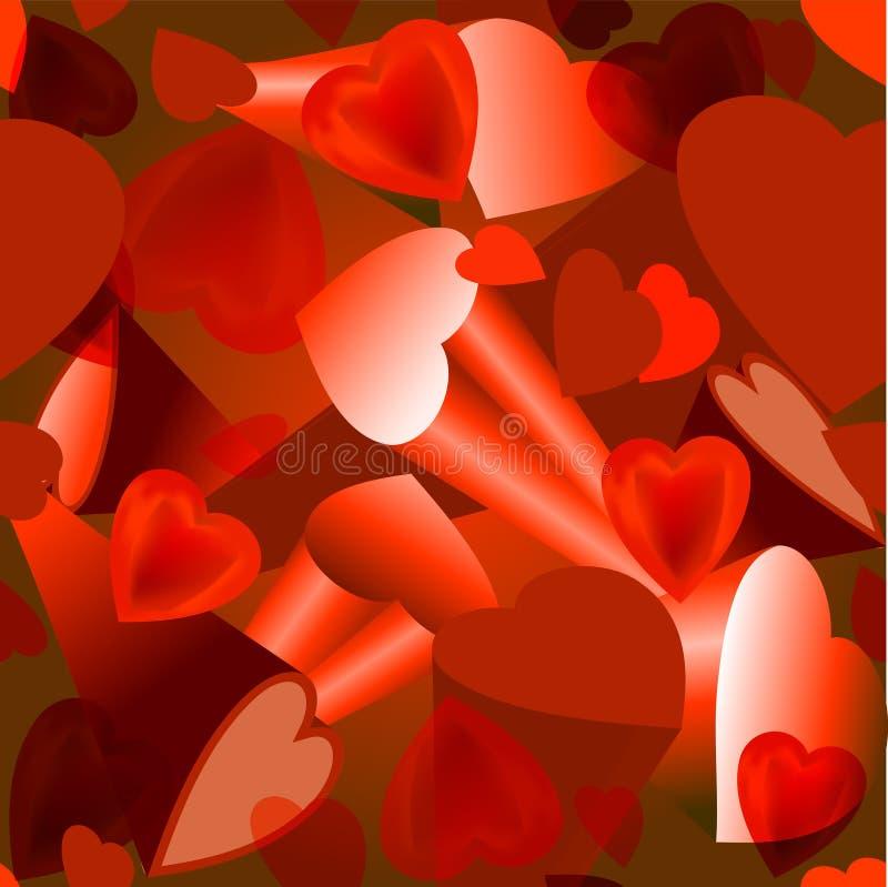 Bakgrundsvolym av hjärtan för valentin dag vektor illustrationer