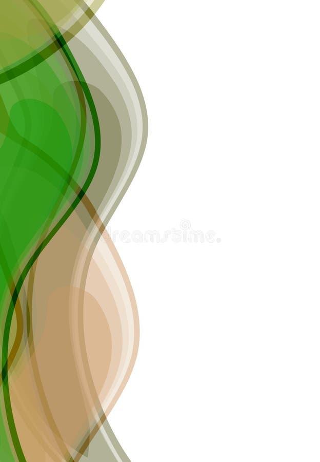 bakgrundswaves royaltyfri illustrationer