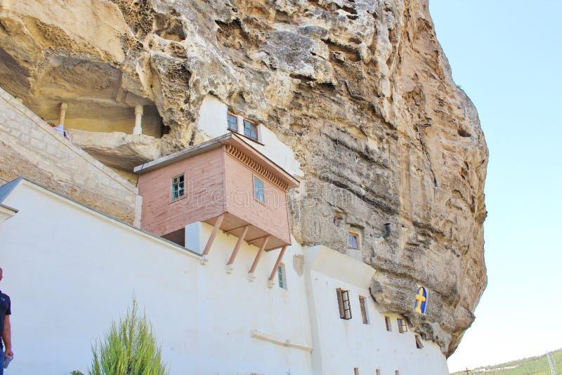 bakhchisarai在uspenskiy附近的克里米亚修道院 免版税图库摄影