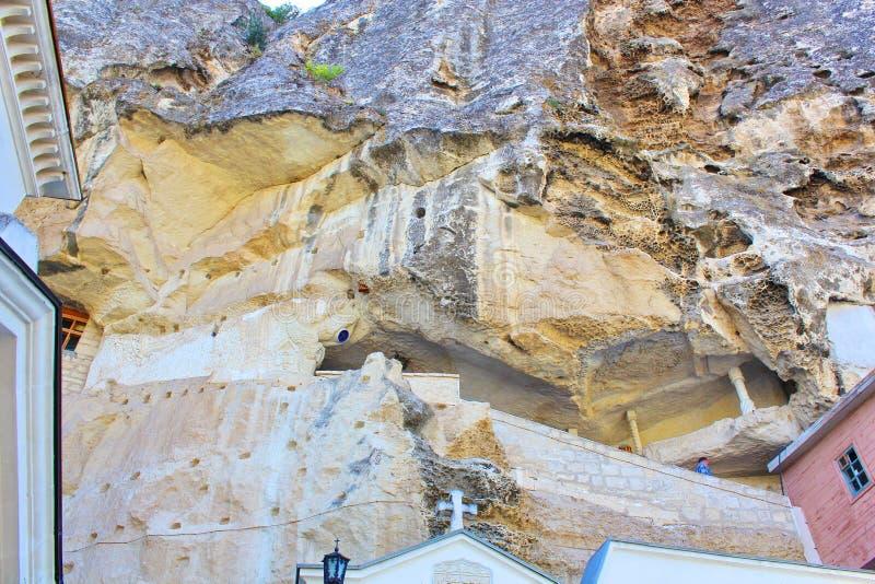 bakhchisarai在uspenskiy附近的克里米亚修道院 库存照片