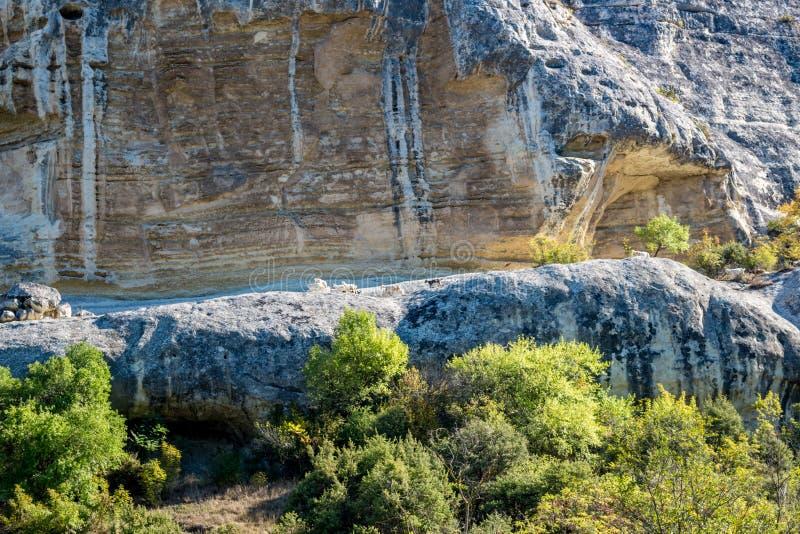 BAKHCHYSARAY, CRIMEA - SEPTEMBER 2014: Bakhchisarai Cave Monastery. Bakhchisarai Cave Monastery The Assumption Monastery of the Caves in Crimea, near stock photography