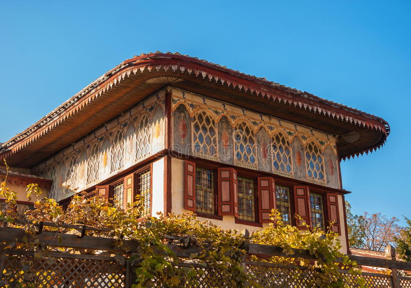 Bakhchisarai. Old house in east style in the ancient Tatar city of Bakhchisarai royalty free stock photos