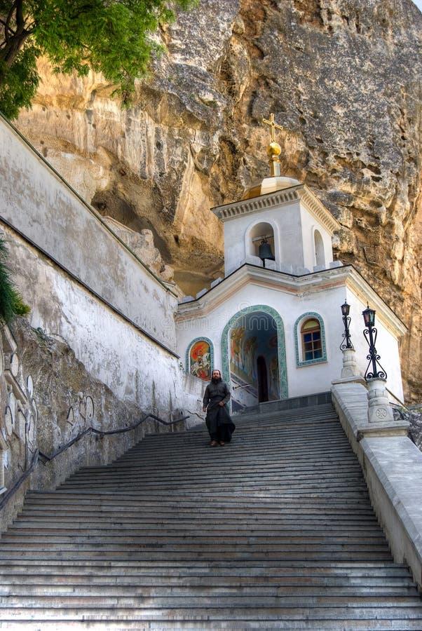 bakhchisarai uspensky修道院的svyato 免版税库存照片