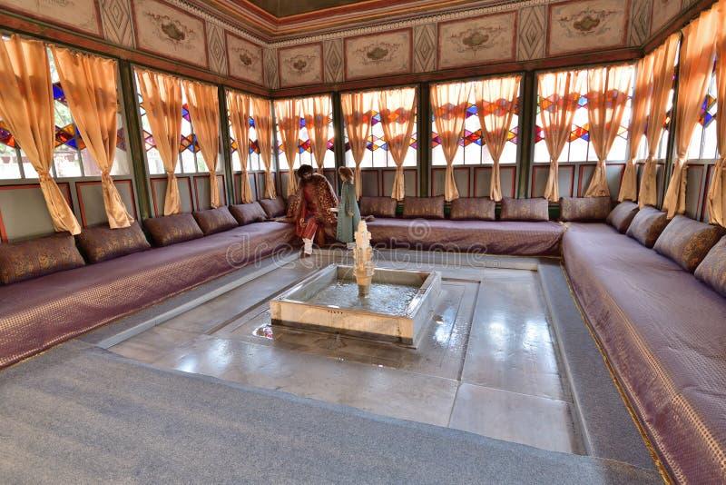 Bakhchisaray, Κριμαία - 2 Ιουλίου 2019 εσωτερικό του Παλατιού Bakhchisaray, κατοικία των Crimean khans του XVI αιώνα Σάμερχαουζ στοκ φωτογραφία με δικαίωμα ελεύθερης χρήσης