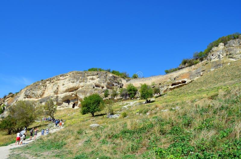 Bakhchisaray, Crimée Chufut-chou frisé - une ville enrichie médiévale en Crimée image libre de droits