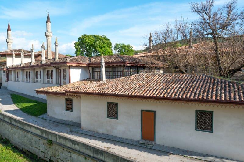 Bakhchisaray Palace. General view of Khan's Palace, Bakhchisaray, Crimea stock images