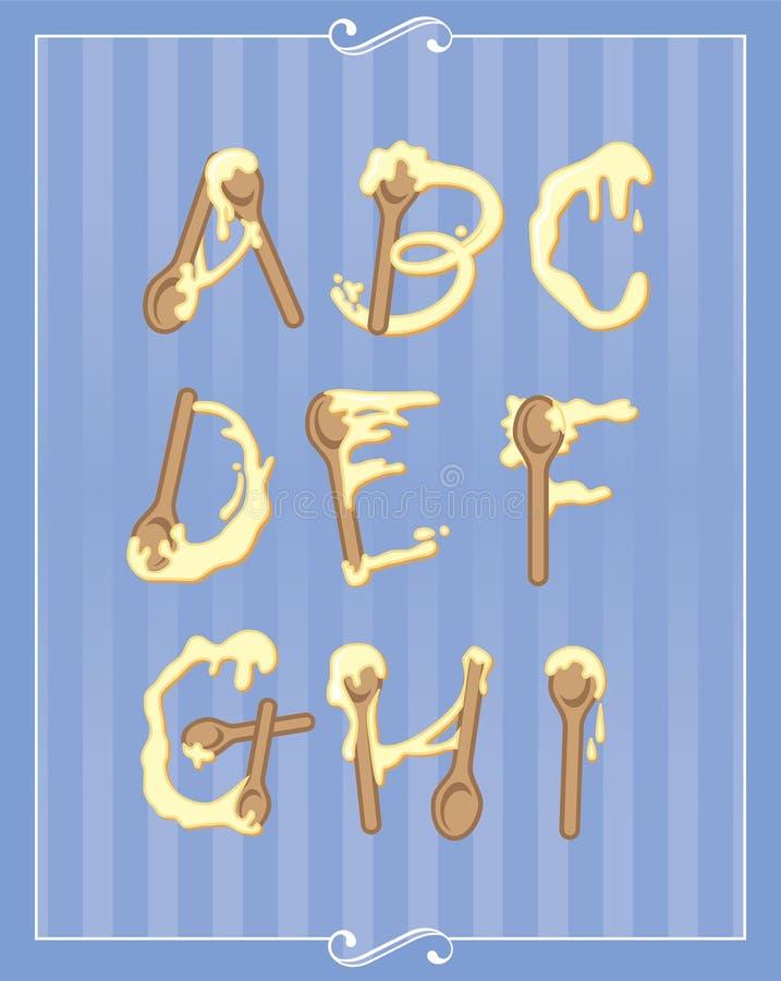 Download Baking Alphabet stock vector. Image of wooden, spell - 30405673