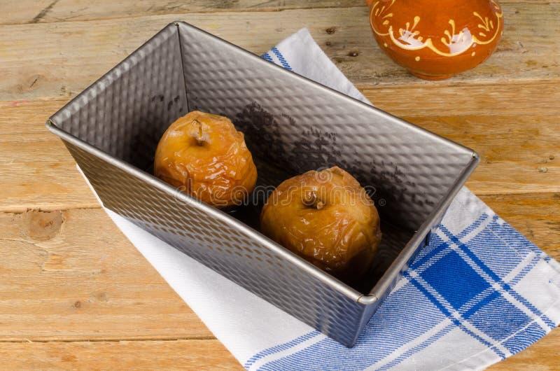 Baking apples stock image
