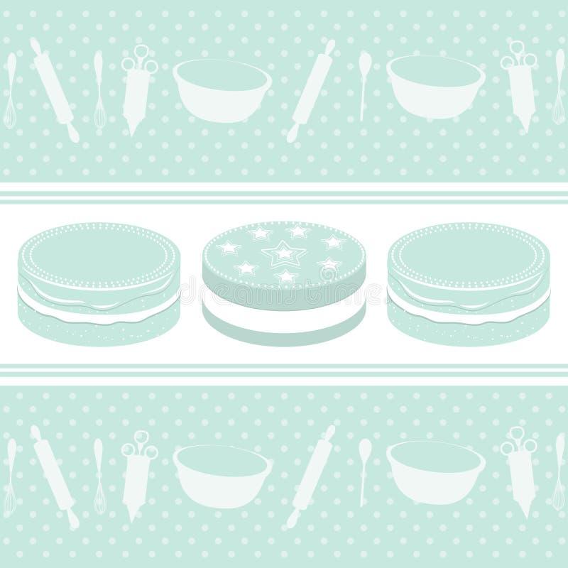 Baking background stock illustration