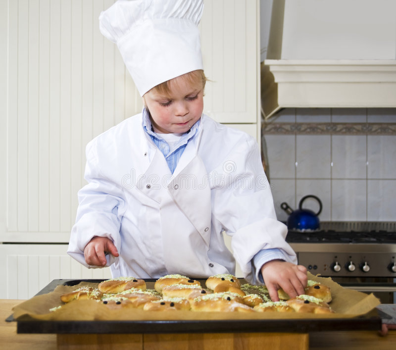 Baking boy royalty free stock images