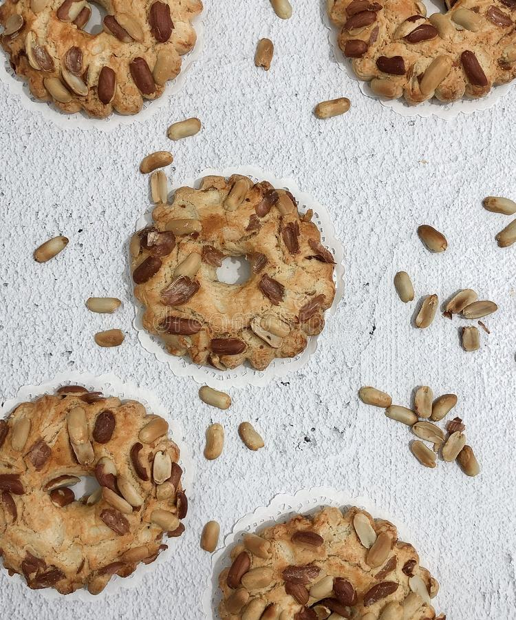baking, cookie with peanuts royalty free stock image