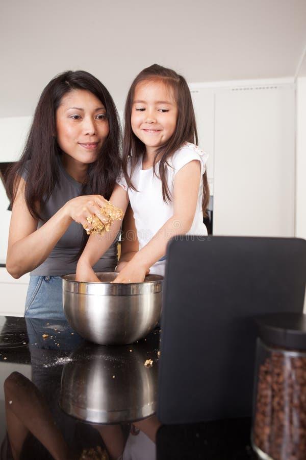 Download Baking Cookies Recipe On Digital Tablet Stock Image - Image: 22021121