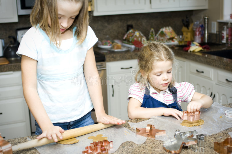 Baking Cookies Together royalty free stock photos