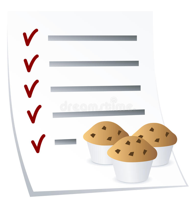 Download Baking culinary recipe stock illustration. Image of list - 13838971