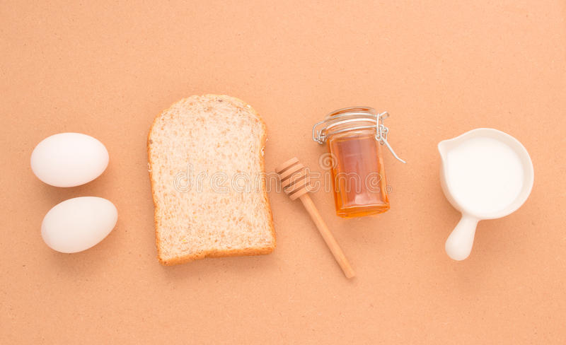 Baking Equipment make Bread wheat grains and cereals on wooden b royalty free stock photography