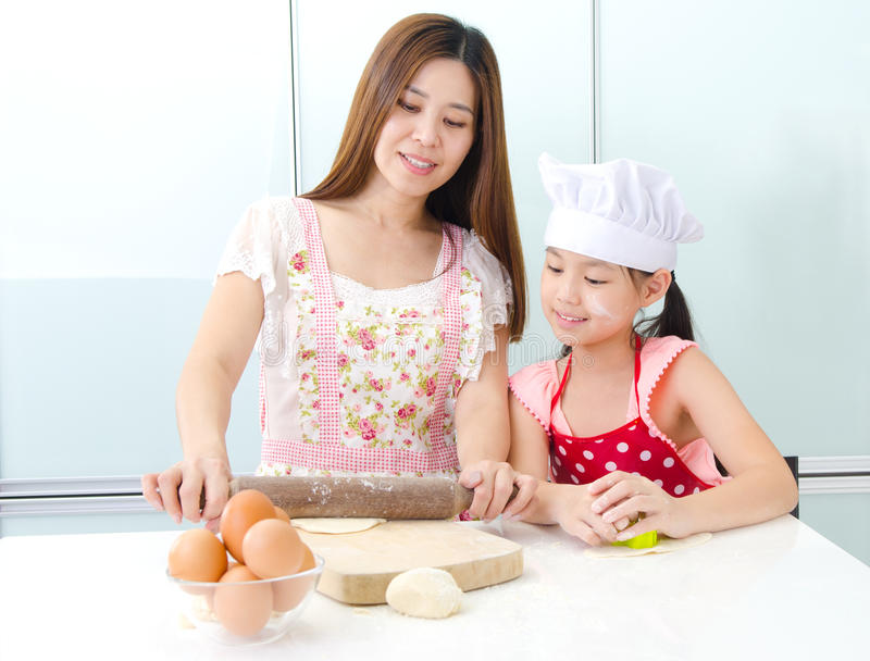 Baking is fun royalty free stock photography