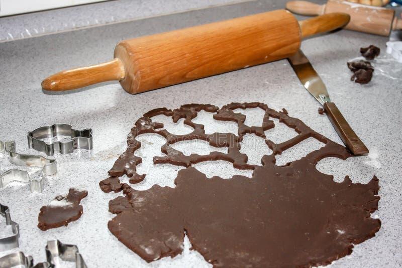 Baking of gingerbread stock photos