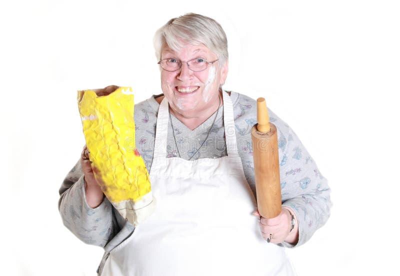 Baking grandmother stock photo