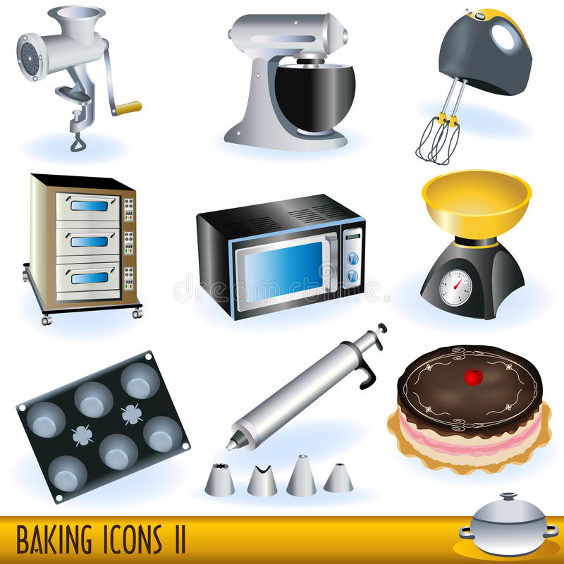 Download Baking icons 2 stock vector. Image of fruit, bakery, isolated - 14666997